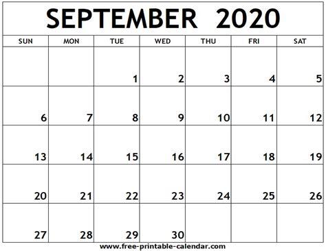 september printable calendar printable calendarcom