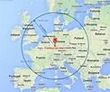 Frankfurt map europe - Map of frankfurt map europe (Hesse ...