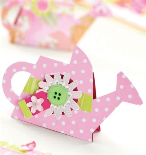 Watering Can Card Template  Free Card Making Downloads