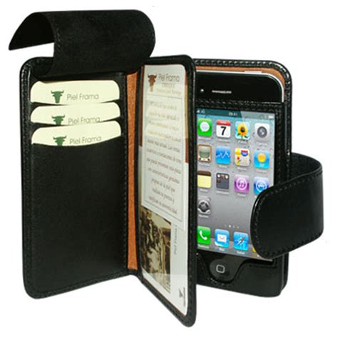 iphone 4s wallet piel frama leather wallet for apple iphone 4s 4 black