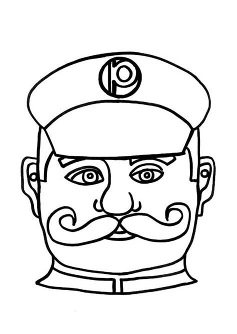 crafts policeman mask  arts  crafts  children