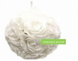 Rose Blanche Artificielle : boule fleur artificielle blanche archives blog detendance boutik vente d 39 articles de ~ Teatrodelosmanantiales.com Idées de Décoration
