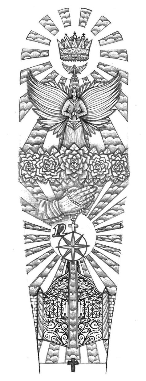 Religious Gates of Heaven tattoo design by thehoundofulster | Tattoo's | Tattoos, Heaven tattoos