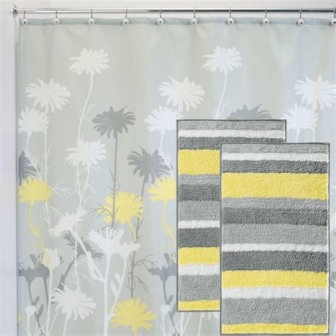 chevron bathroom sets with shower curtain and rugs yellow and gray bathroom rug rugs ideas