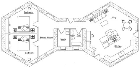 large 2 bedroom house plans polygonal hexagonal etc straw bale house plans