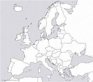 Blank Political Map Of Europe - grahamdennis.me