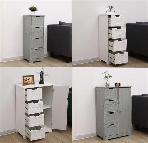 Wooden Bathroom Storage Cabinets by Westwood Bathroom Storage Cabinet Wooden 4 Drawer Cupboard