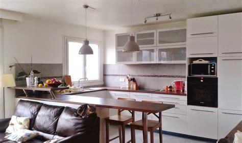 cuisine ouverte sur salon petit espace nmasig info
