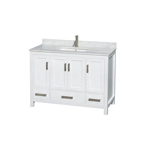 Wyndham Bathroom Vanities Canada by Wyndham Collection Sheffield 48 In Vanity In White With