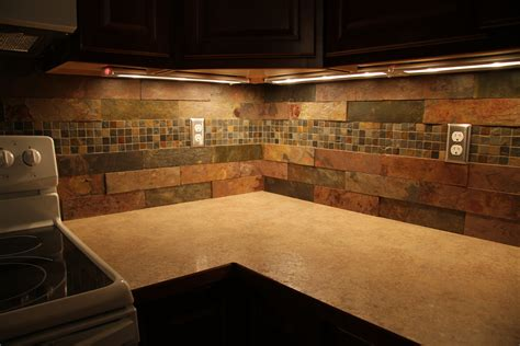 slate backsplash kitchen marvelous black wood corner cabinets with mosaic tiled combined with subway slate backsplash