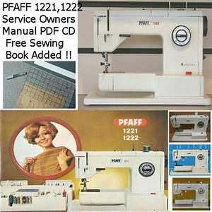 Pfaff 1221  1222  1222e Service Manual Instruction Manual