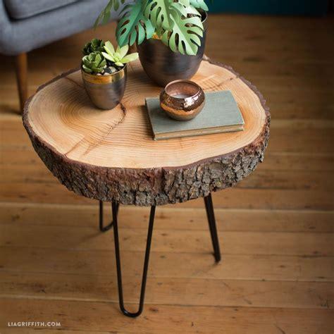 diy wood slice table diy wood stylish  coffee