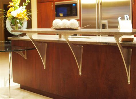 Stainless Extension Brackets For Granite Or Glass Overhang