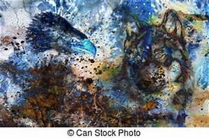 Tache De Couleur Peinture Fond Blanc : couleur aigle plumes multicolore fond loup peinture illustration de stock rechercher ~ Melissatoandfro.com Idées de Décoration
