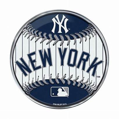 Yankees York Baseball Emblem Round Decal Die