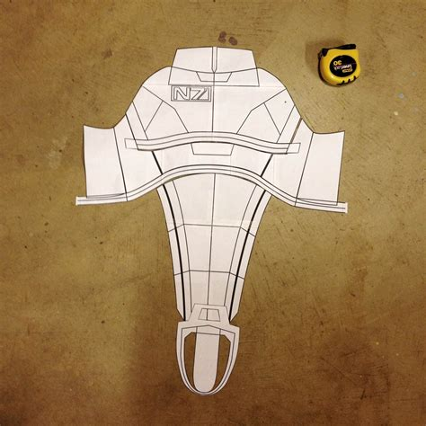 Mass Effect 3 N7 Armor Template by Ugh I Must Be Mass Effect N7 Armor