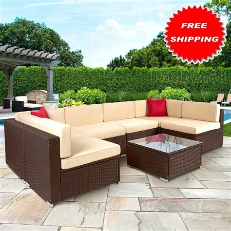 Rattan Patio Furniture by Set 7pc Deluxe Outdoor Furniture Wicker Rattan Patio