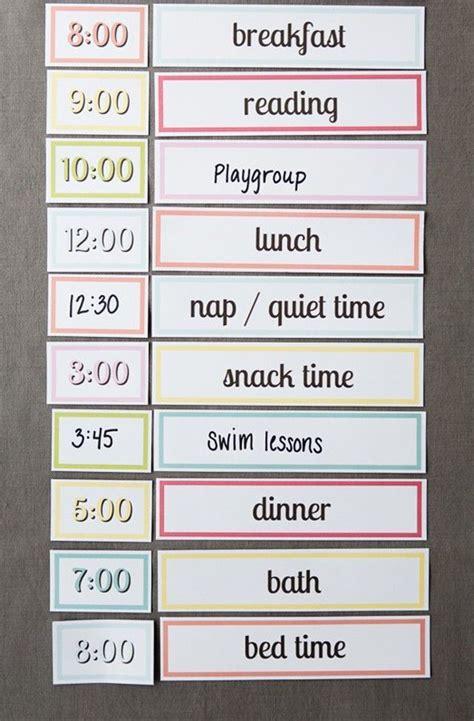 printable setting   simple routine  kids