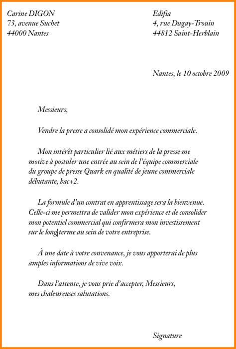 contrat d apprentissage cuisine lettre de motivation pour contrat d apprentissage