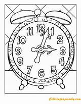 Worksheets Clock Coloring Tick Tock Printable Face Kindergarten Clocks Faces Colouring Worksheet Around Telling Numbers Template Tell Education ساعه Fall sketch template