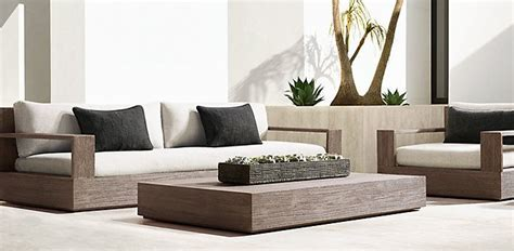 Restoration Hardware Introducing 2018 Rh Outdoor Collection by Marbella Collection Weathered Grey Teak Outdoor