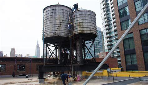 inspecting  york city water tanks csny