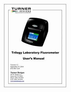 Trilogy Laboratory Fluorometer User U0026 39 S Manual