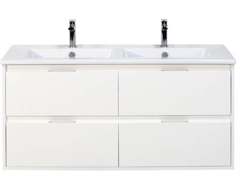 wastafelonderkast porto badmeubel porto wit hoogglans 120x50 cm inclusief 4 lades