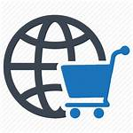 Commerce Ecommerce Market Icon Shopping Cart Global