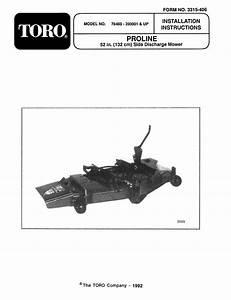 Toro 52 U0026quot  Side Discharge Mower Attachment Installation