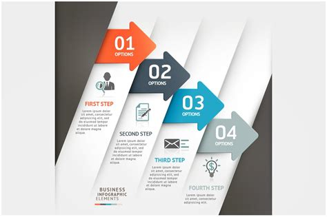 business arrow infographic template