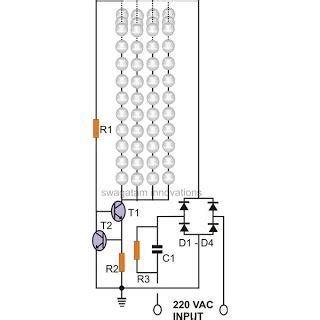 Simple Current Controlled Led Tube Light Circuit Diagram