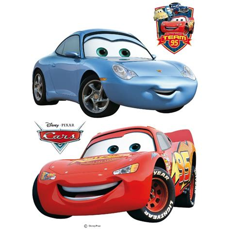 Disney Cars Lightning Mcqueen And Sally Giant Stickers