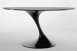 Table De Cuisine Ronde : atatlas table ronde en verre noir ~ Teatrodelosmanantiales.com Idées de Décoration