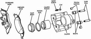 Front Brake Caliper Diagram