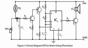 fire alarm using thermistor electronics project With fire alarm circuit