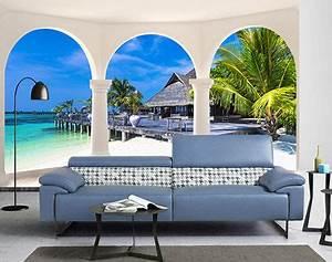 Papier Peint Trompe L Oeil Bois : 56 best images about papier peint 3d paysage on pinterest ~ Premium-room.com Idées de Décoration