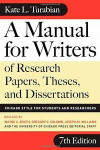 A Manual For Writers Of Research Papers  Theses  And
