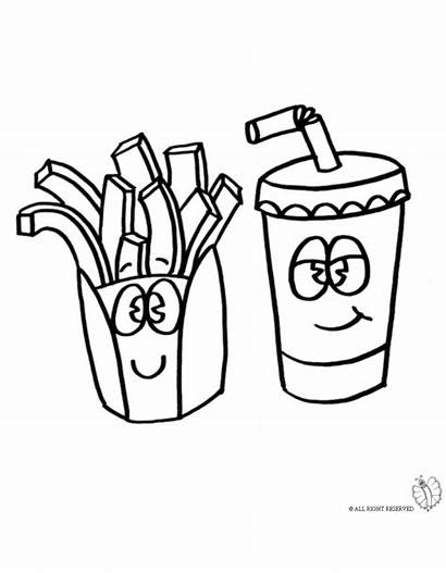 Coloring Pages Chips Drink Immagini Data