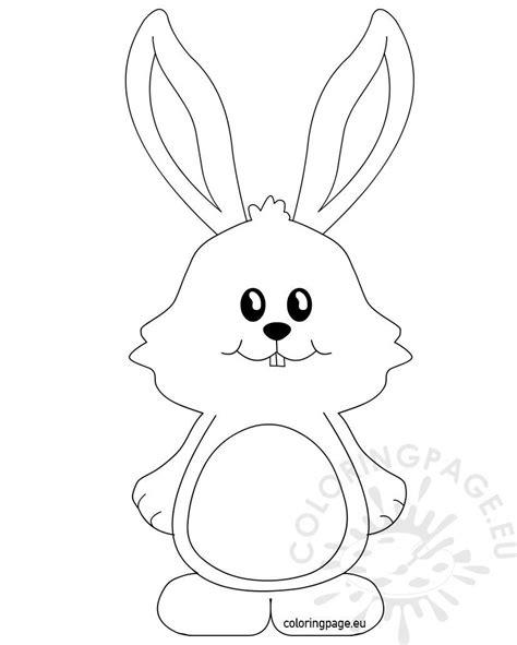 cute bunny  big ears coloring page