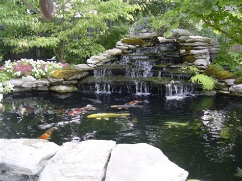 pond with waterfall building a koi pond waterfall house exterior and interior