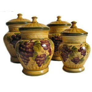 tuscan kitchen canister sets 4pc ceramic canister set tuscany grape home sweet home