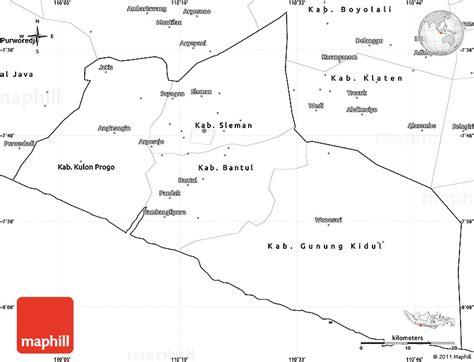 blank simple map  yogyakarta