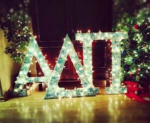 25 best sorority recruitment decorations ideas on With noel letter lights