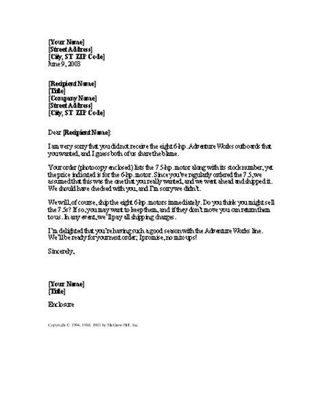 sample letter explaining collections sample business letter