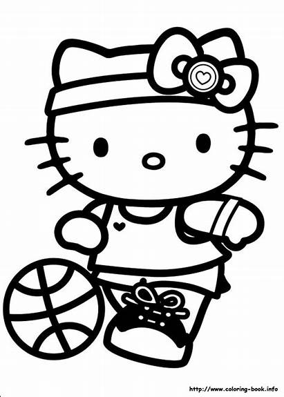 Kitty Hello Coloring Pages Birthday Party Wonderful