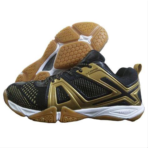 li ning omega badminton shoes black  gold buy li ning