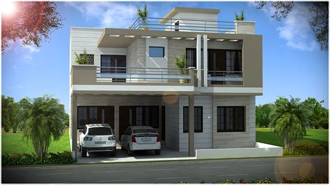 Duplex Home Elevation Design Photos  Homemade Ftempo