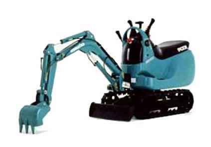 kikkis workshop  museum  construction equipment komatsu micro excavator pc
