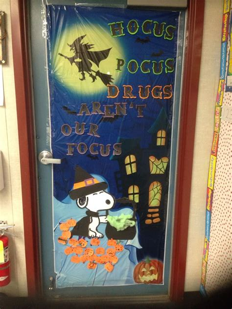 red ribbon week door i did for my daughters class her